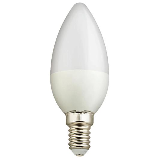 لامپ 5 وات LED شمعی مهتابی (هالی استار)نمانور