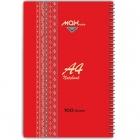 دفتر 100 برگ سیمی جلد سخت قرمز MAX- A4